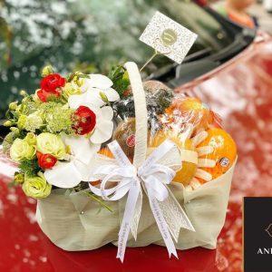 giỏ hoa bằng trái cây