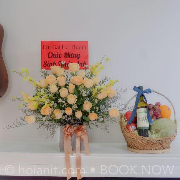 hoa quả chúc mừng hội an