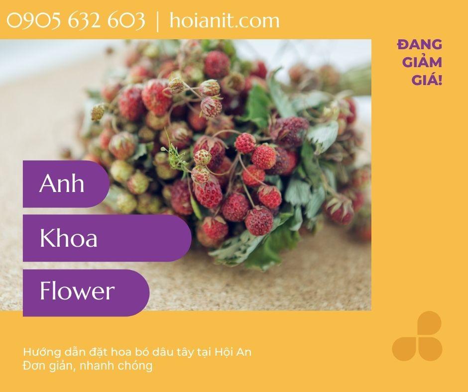 Hướng dẫn đặt hoa dâu tây tại Hôi An