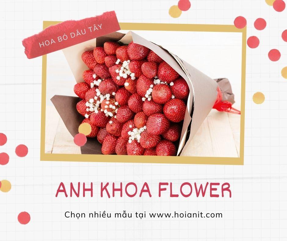 Mua bó hoa dâu tây Hội An