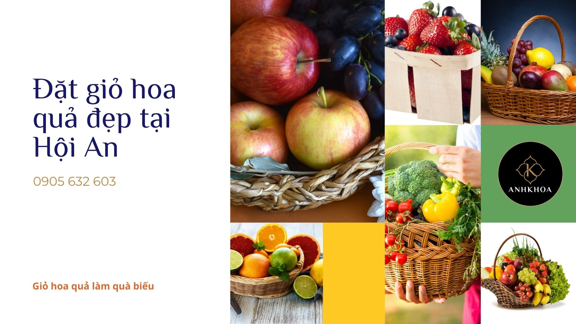 Đặt giỏ hoa quả cao cấp tại Hội An