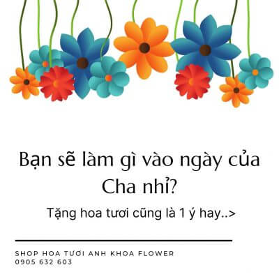 hoa tươi ngày của cha