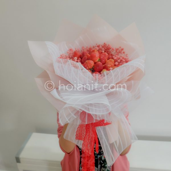 bó hoa dâu tây