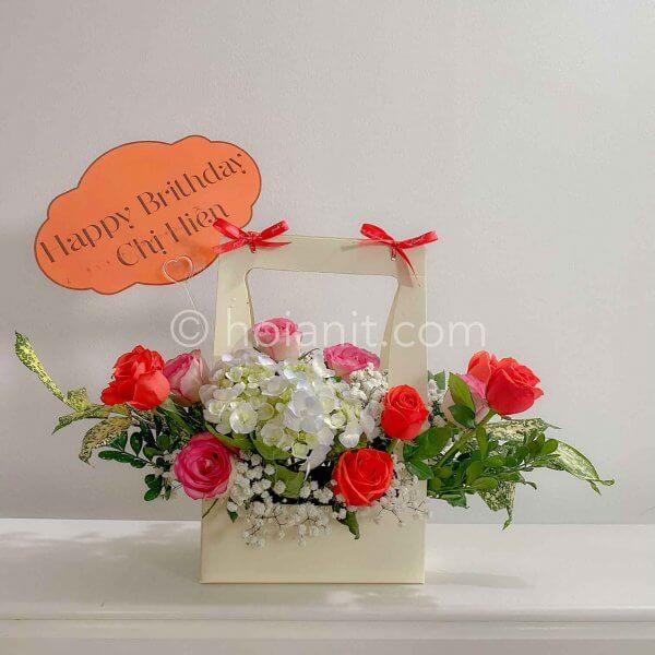 giỏ hoa mừng sinh nhật