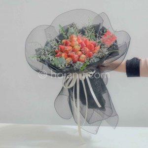 hoa bó dâu tây