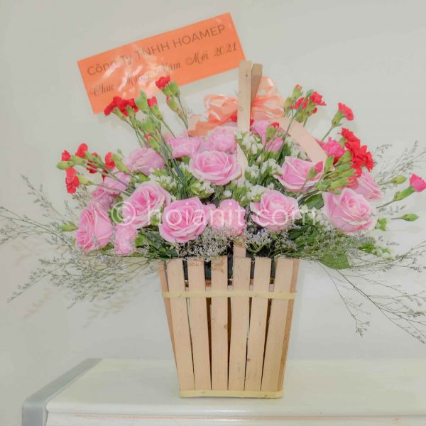 giỏ hoa tươi hội an