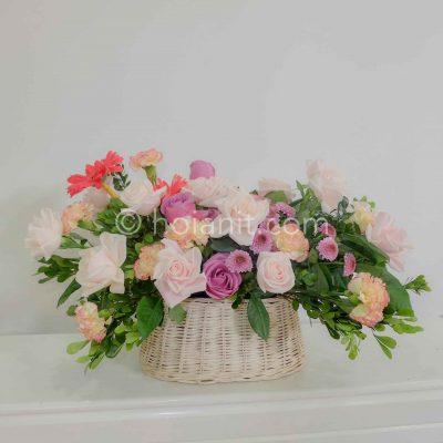 Mẫu giỏ hoa hồng đẹp