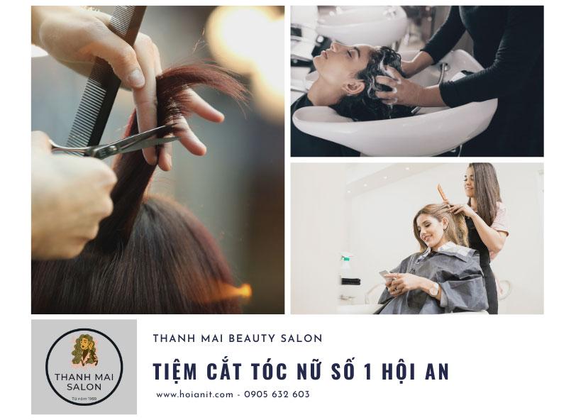 cắt tóc nữ đẹp ở hội an