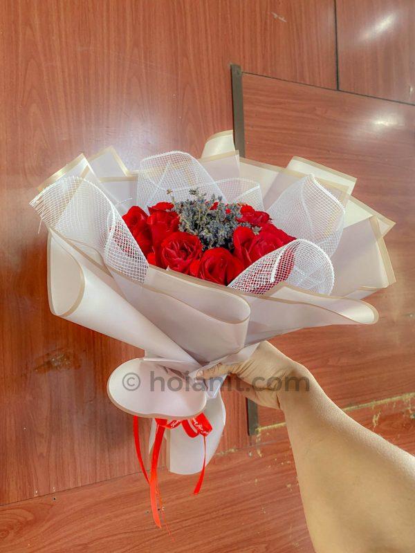 bó hoa hồng hội an