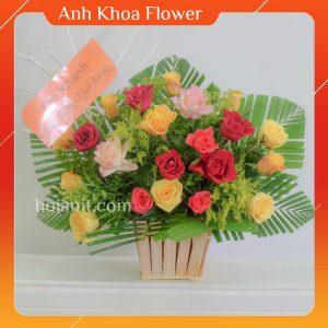 giỏ hoa đẹp hội an