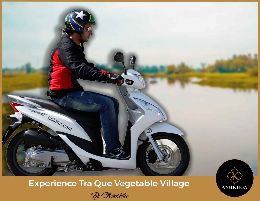 tra que vegetable village by motorbike 10