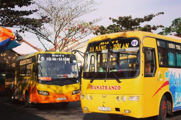 Hoi An Danang public bus 2