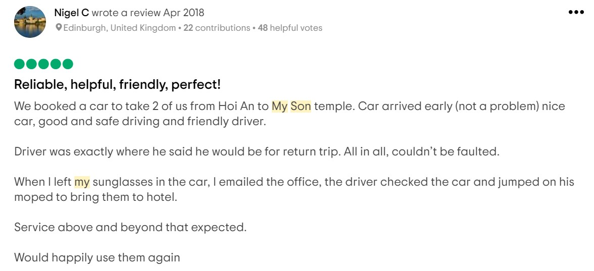 review hoi an my son 1