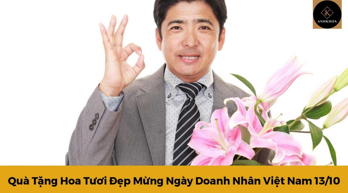 hoa tươi đẹp mừng ngày doanh nhân việt nam
